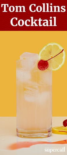 Essentially fizzy lemonade for adults, a Tom Collins is made from gin, lemon juice, sugar and carbonated water.