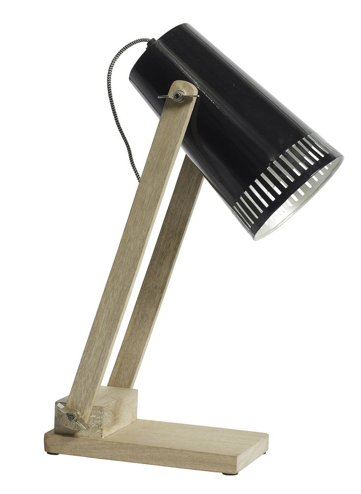 Tafellamp Woody Zwart via http://www.toefwonen.nl/c-2236856/lampen/