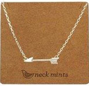 Fabienne Neck Mints Brushed Arrow Necklace - 3 options – The Tangerine Fox