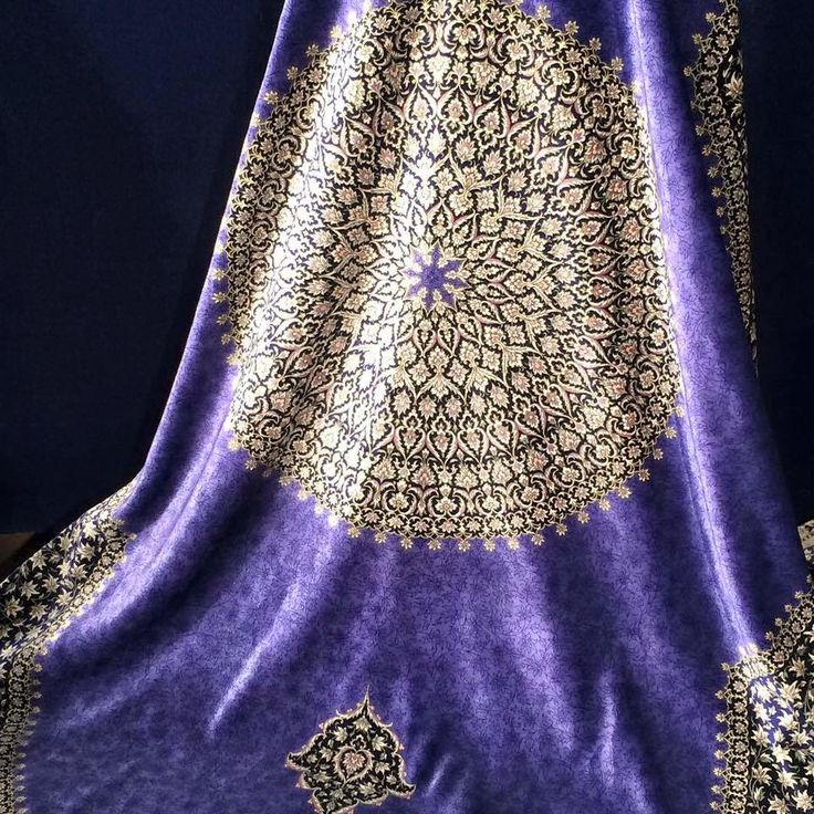 Beautiful Persian Silk carpet from Qeshm, IRAN.