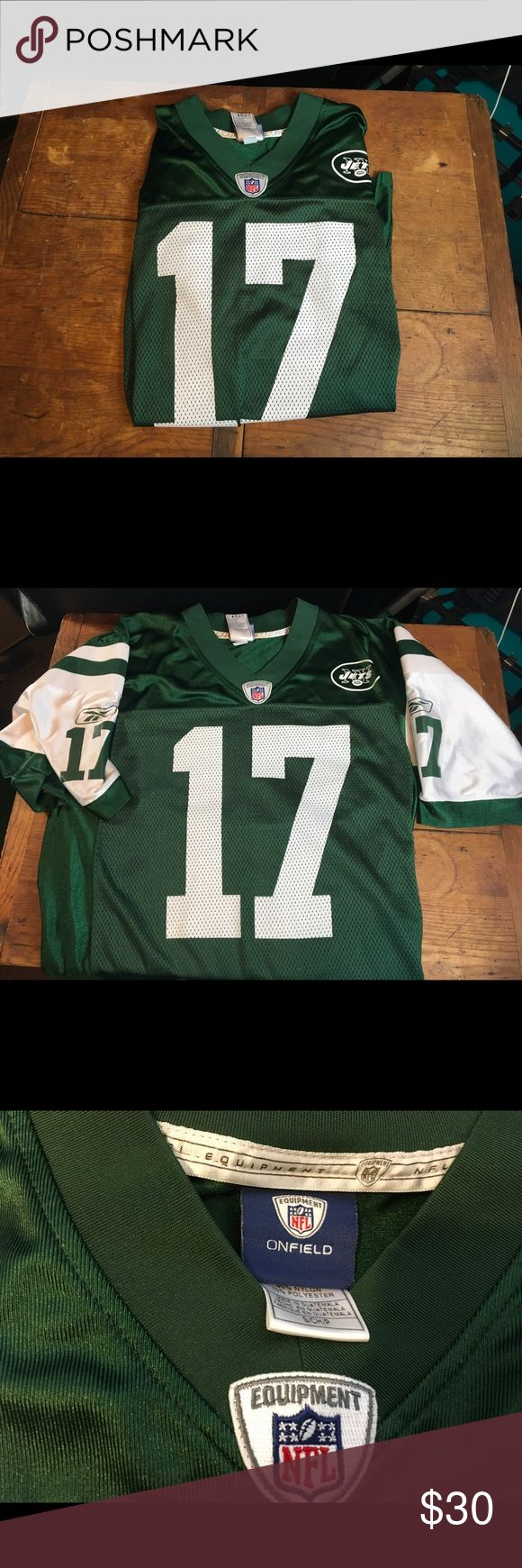 Jets jersey Jets jersey with number 17 Plaxico Buress. In excellent condition.. 9/10 condition.. support your Jets!! Reebok Shirts Tees - Short Sleeve