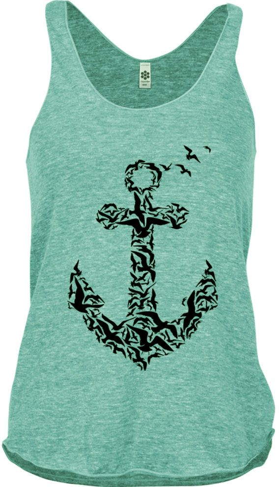 Hey, I found this really awesome Etsy listing at https://www.etsy.com/listing/190369930/womens-anchor-shirt-nautical-shirts