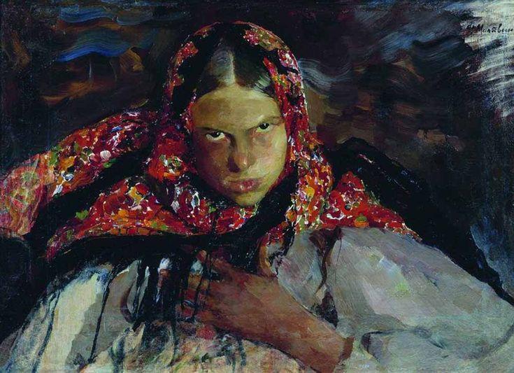 Малявин Филипп Андреевич.  «Крестьянская девушка»