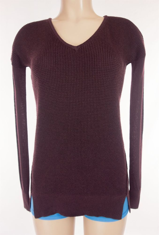 LULULEMON The Sweater Life Size S Small Bordeaux Drama Boolux Tencel Cashmere  #Lululemon #ShirtsTops