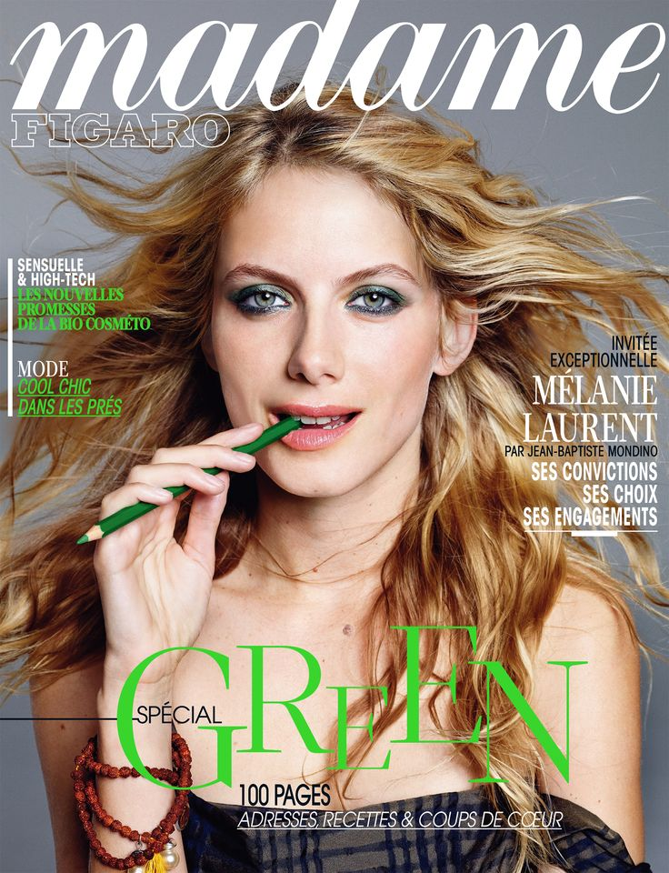 r dactrice en chef de madame figaro cette semaine m lanie laurent voque ses engagements une. Black Bedroom Furniture Sets. Home Design Ideas