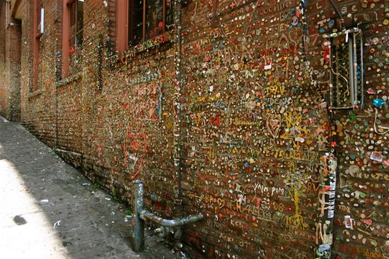 Chewed Gum Wall in Seattle. Really? Was it necessary?