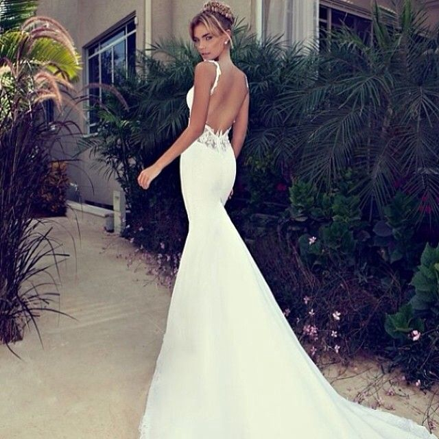 open back wedding dress - obsessed with these