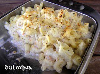 Dulmina tündérkonyhája: Sajtos makaróni karfiollal (laktovegetáriánus)
