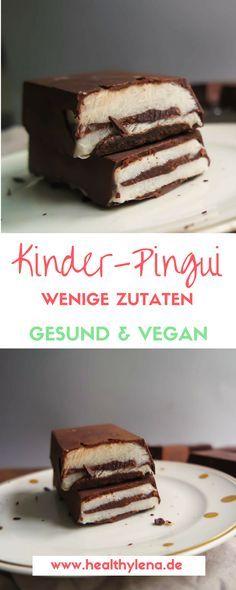 Vegane Kinder-Pingui – hier erwartet dich eine gesündere und rein pflanzliche Version der bekannten Süßigkeit. Nachdem ich mir also zuerst vegane Oreos vorgenommen habe, ist es nun Zeit für vegane Kinder-Pingui. Hier geht's zum Rezept: glutenfrei, vegan & mit nur wenigen Zutaten. http://www.healthylena.de/rezepte/vegane-kinder-pingui-gesund-leicht-lecker/