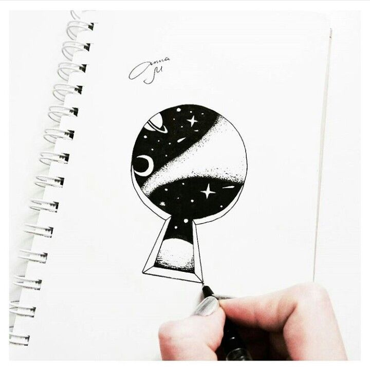 Tumblr drawing keyhole