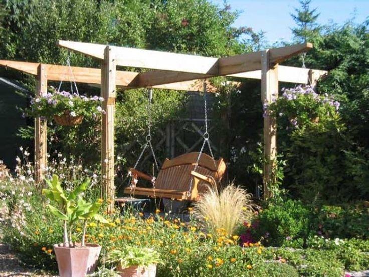 Wood Pergola With Bespoke Garden Swing Seat