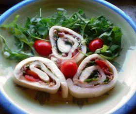 a cucina e mammà: Sfoglia di fior di latte con prosciutto crudo, rucola e pomodorini