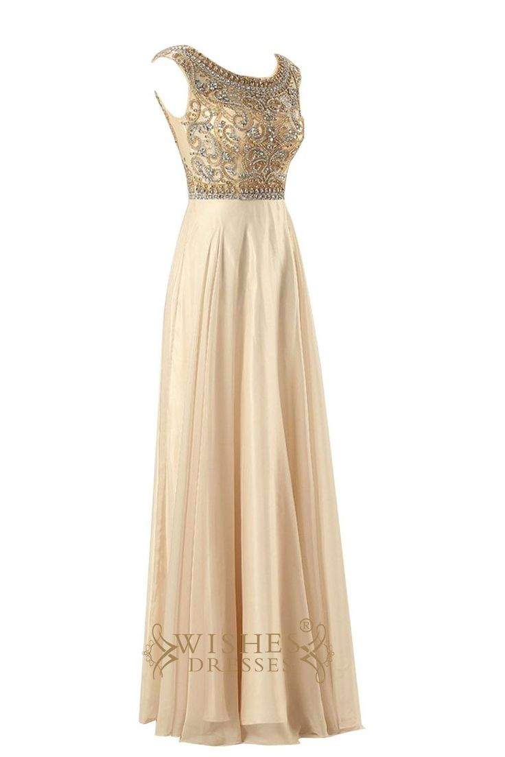 A-line Gold Prom Dresses With Delicated Beaded Bodice Evening Dress Am209 $179.00 http://www.wishesdresses.com/collections/prom-dresses/products/a-line-gold-prom-dresses-with-delicated-beaded-bodice-evening-dress-am209