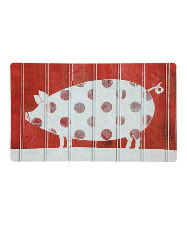 Loving this Polka Pig Indoor Cushion Mat on #zulily! #zulilyfinds