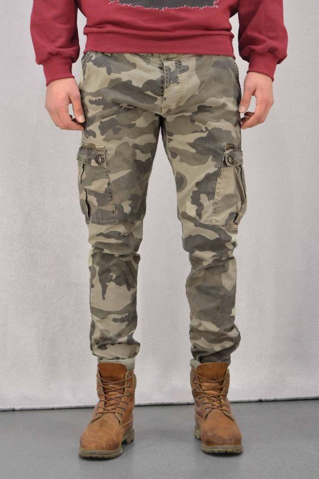 Ανδρικό παντελόνι παραλλαγής  PANT-5016-be  Παντελόνια > Άνδρας