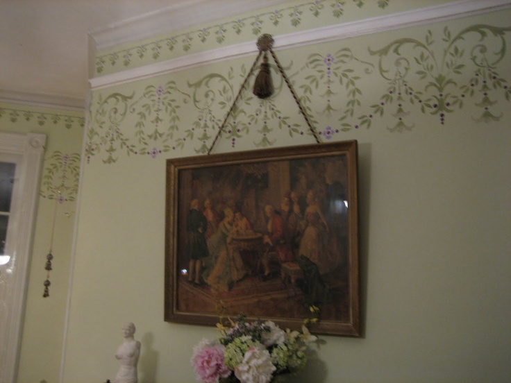 Hanging Pictures Without Putting Holes In The Wall Part - 49: One Of The Biggest Projects We Did In Our House So Far Was Painting The  Formal Parlor And Also Installing Picture Hanging Molding (or A Pic.