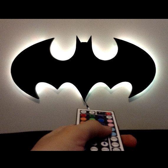 LED Classic batman Wall art kids childrens by DigitalWallDesigns