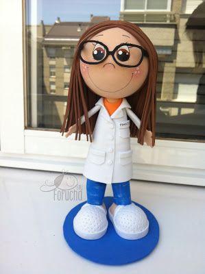 Fofucha enfermera gafas