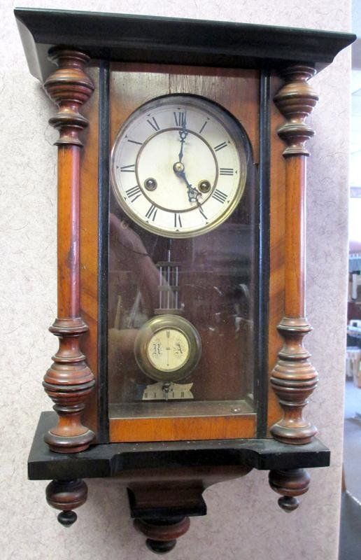 German Vienna Regulator Wall Clock : Lot 182