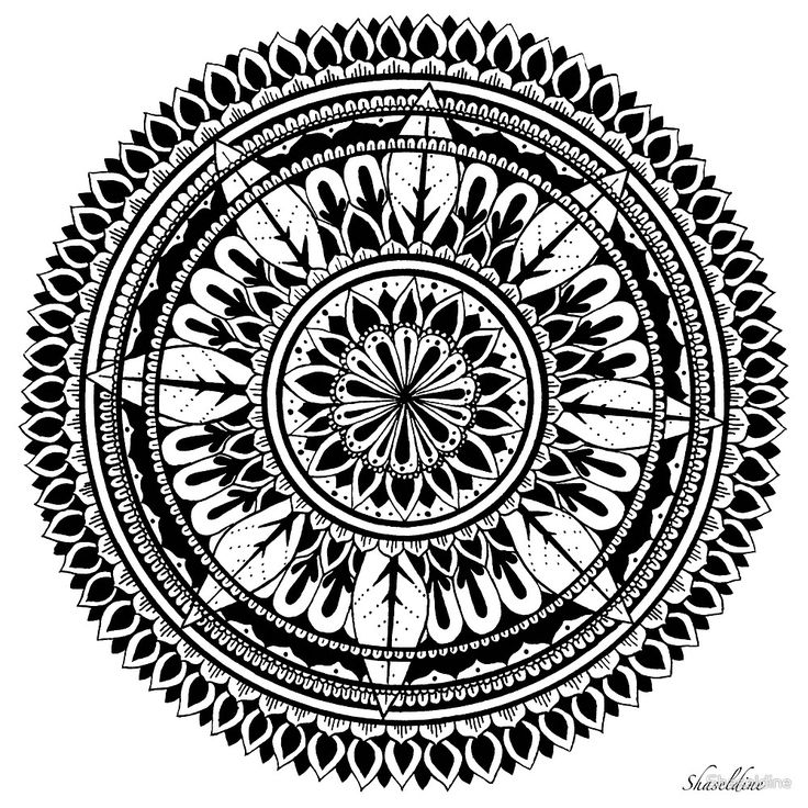 Frost  Hand drawn Mandala by Stacey Haseldine