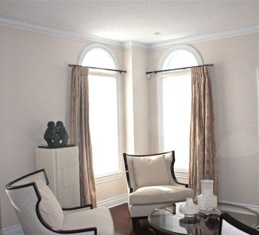 Curtains For Round Top Windows Home Spaces Places