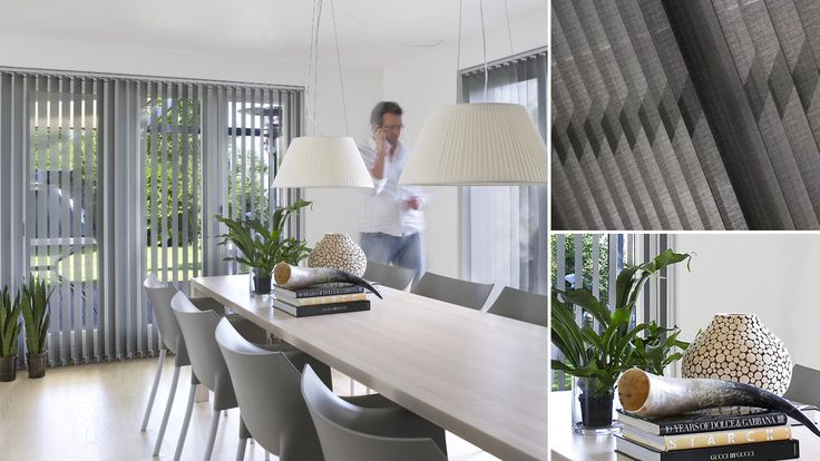 """A bold, new trend in vertical window treatments with Luxaflex®""""Pure & Natural"""" collection. Fresh new look with contemporary designs.  #luxaflex #vertical blinds #luxaflex #home decor"""