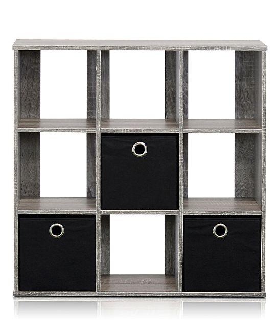 Gray U0026 Black Nine Cube Organizer U0026 Bins
