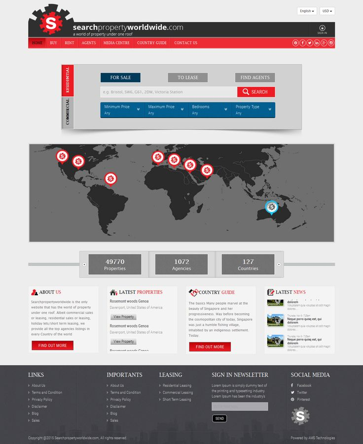 searchpropertyworldwide website  all the world property under one roof