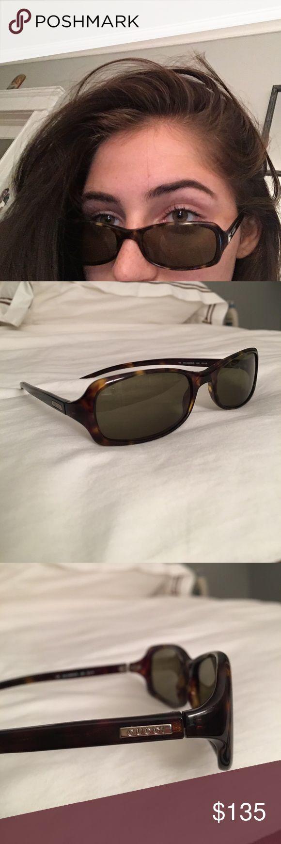 Black/brown Gucci sunglasses Super cute Gucci sunglasses. They are in great condition! Gucci Accessories Sunglasses