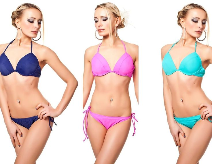 H.Nathalie Bikini PushUP Bügel-Bikini Beatchware BadeTop Triangel Set 36,38,40