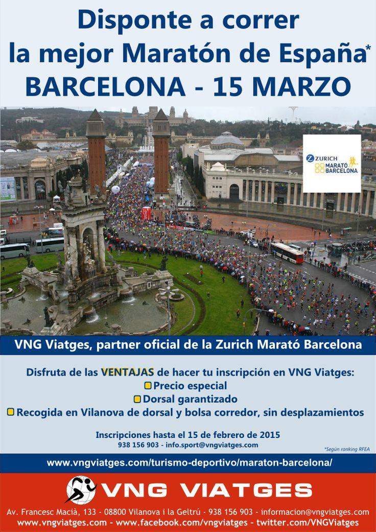 Dorsales garantizados para la Maratón de Barcelona 2015 - VNG Viatges, partner oficial de la Zurich Maratón de Barcelona