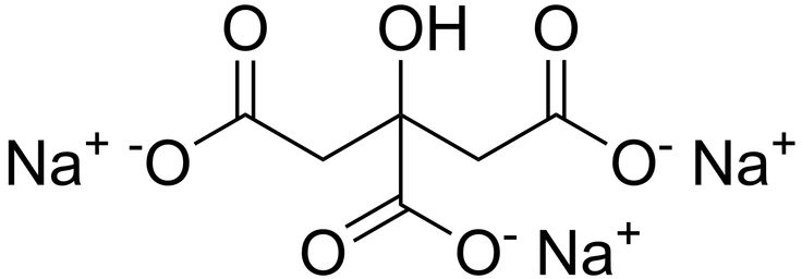 Sodium citrate may refer to any of the sodium salts of citric acid (though most commonly the third): Monosodium citrate, Disodium citrate, Trisodium citrate (pictured).