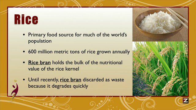 Stabilized Rice Bran - Zeal Wellness - Mark McKnight on Vimeo