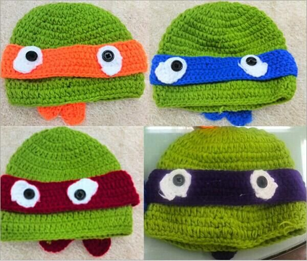 2016 Crochet Ninja Turtles Hat, Teenage Mutant Ninja Turtles Hat ...