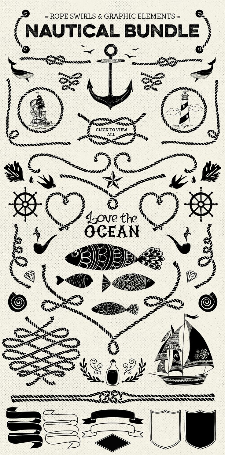 Nautical vector pack by SoNice on Creative Market