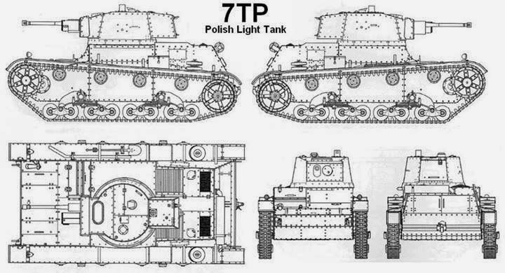 7TP Polish light Tank.
