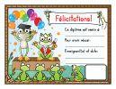 Certificats variés - Amélie Pépin + des fiches de suivi qui donnent des idées !