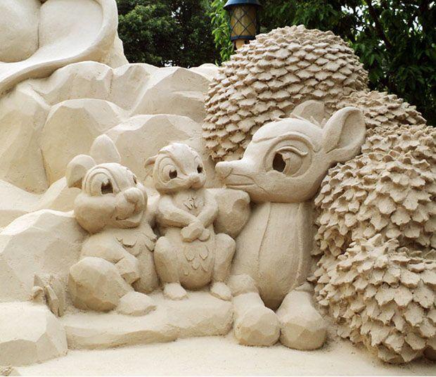 Disney Inspired Sand Sculptures