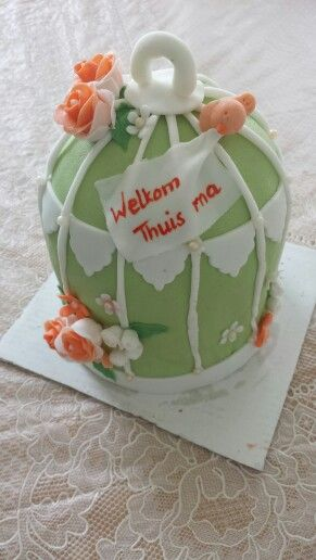 Mini birdcage cake/ mini vogelkooi taart