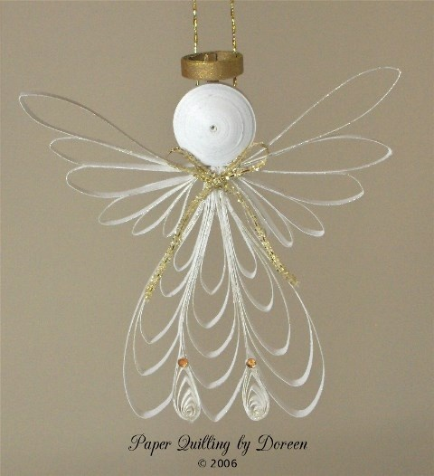 Angel by Custom Quiling Design Team member Doreen. © Doreen Coreman