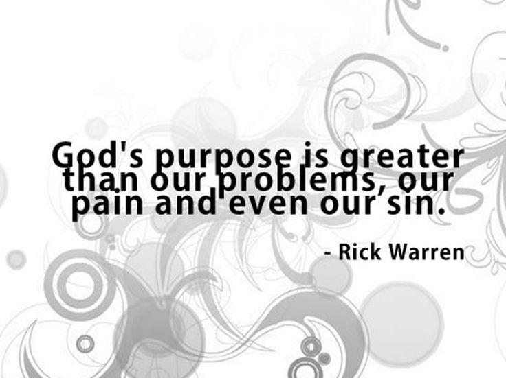 God's purpose.