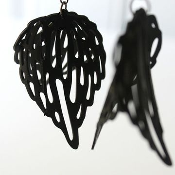 Recycled bicycle tyres Earrings by OTRA (On The Road Again)
