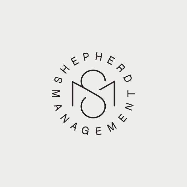 Monogram designed by Richard Baird for Shepherd Management.