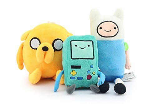 Adventure Time Anime Animal Stuffed Plush Toys Finn Jake Beemo BMO 3 Pcs/set @ niftywarehouse.com #NiftyWarehouse #AdventureTime #TVShow #Cartoon #Show #CartoonNetwork