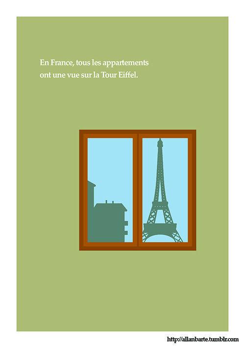 En France tous les appartements ont une vue sur la tour Eiffel tumblr_n5z1l9Ei0K1tcx5axo1_500