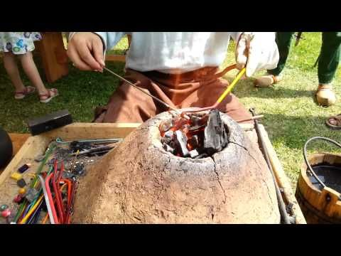 Viking Handcraft: Making Glass Beads - YouTube