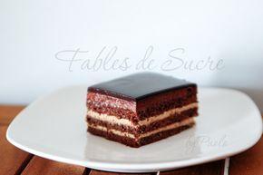 """Torta Opera, un grande classico della pasticceria internazionale riproposta qui nella versione de """"L'enciclopedia del cioccolato"""" di Frederic Bau. Unica!"""