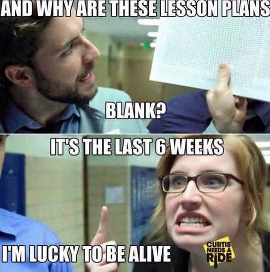 So true! What lesson plans?