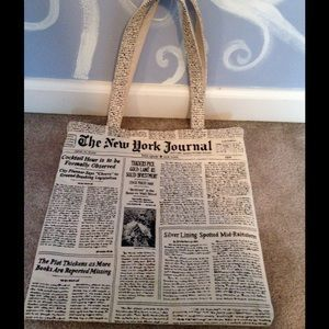 kate spade Handbags - SALE!Kate Spade Newsprint Tote
