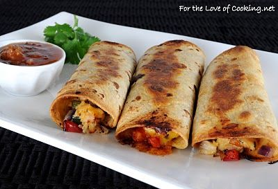 Chicken and cheddar taquitos. Repin as the last link didn't work anymore. Super yummy!